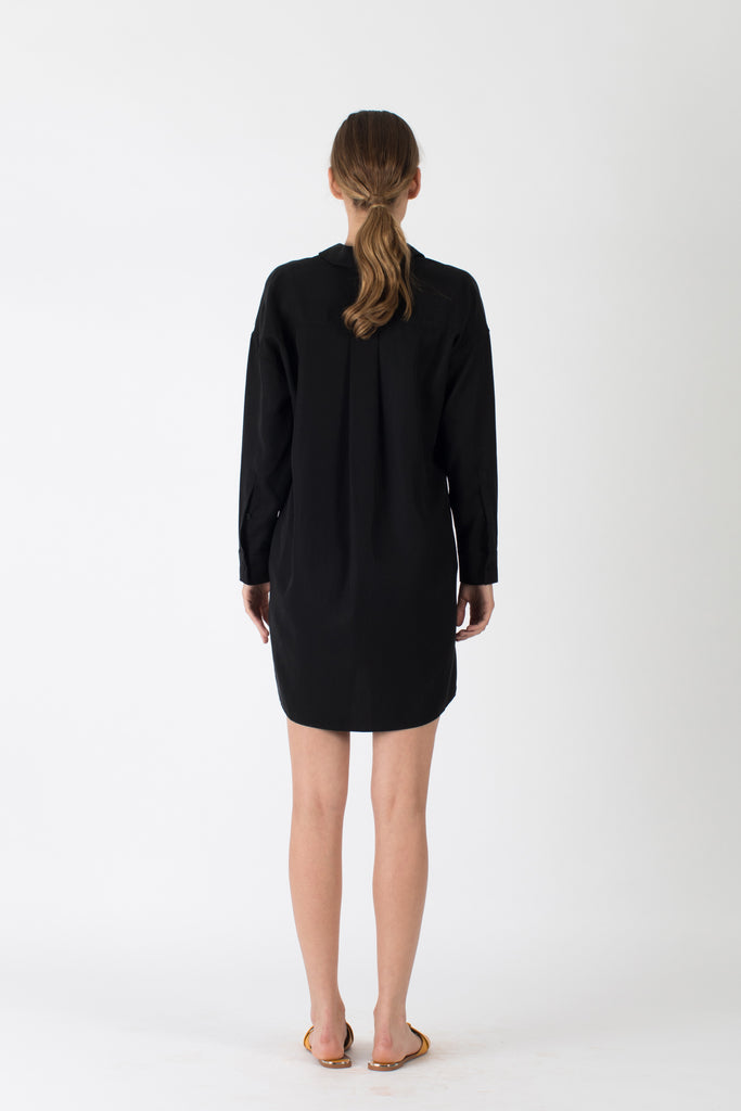 Aiden Shirt Dress Black