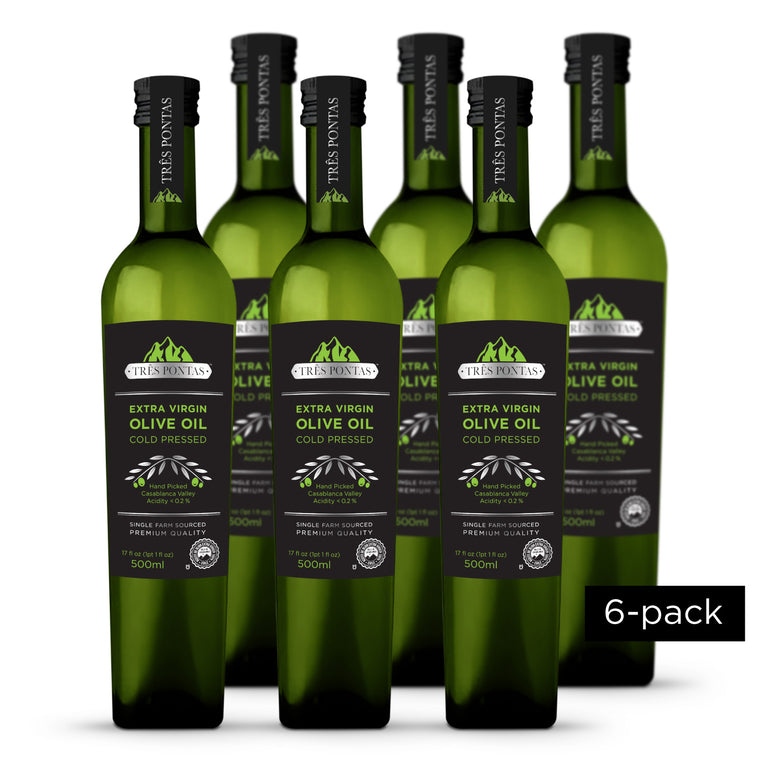 Três Pontas 500 ml Extra Virgin Olive Oil (6-PACK, 3L total)