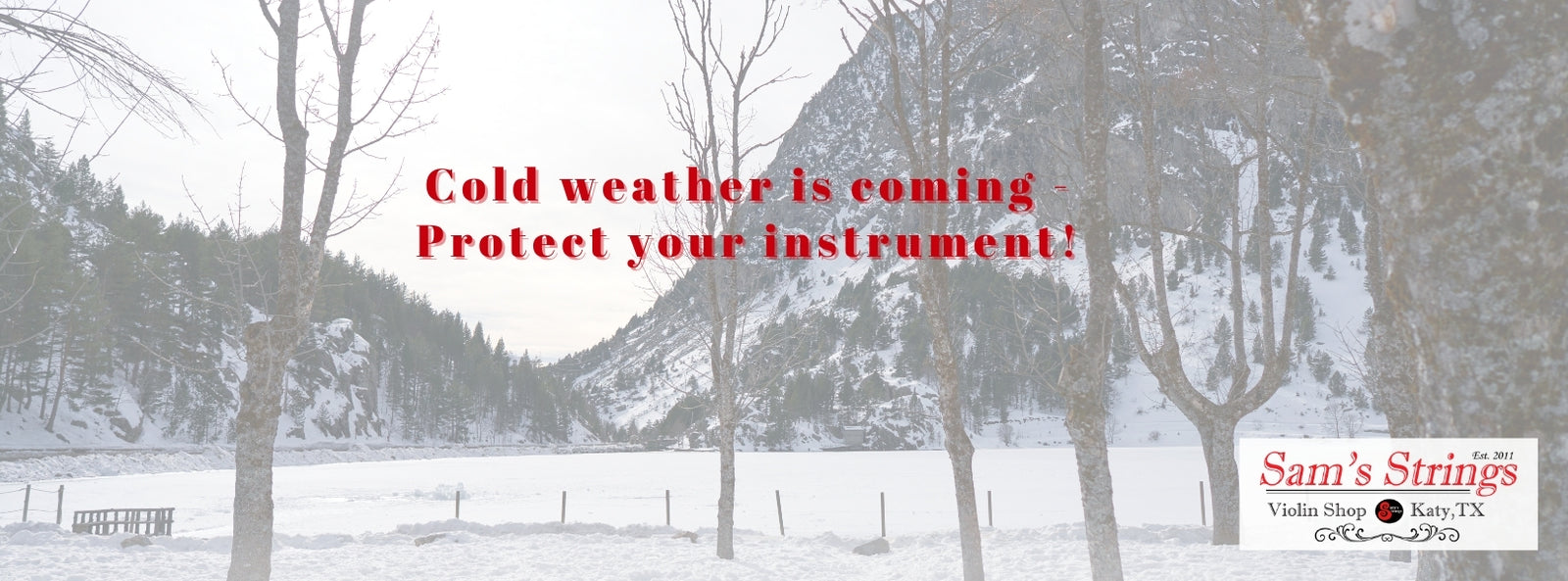 Cold weather is coming - Protect your instrument!