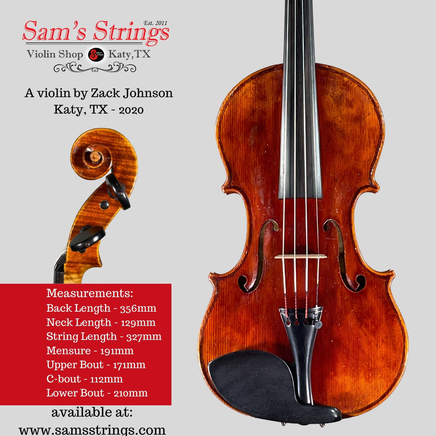 A fine violin by Zack Johnson 2020-2