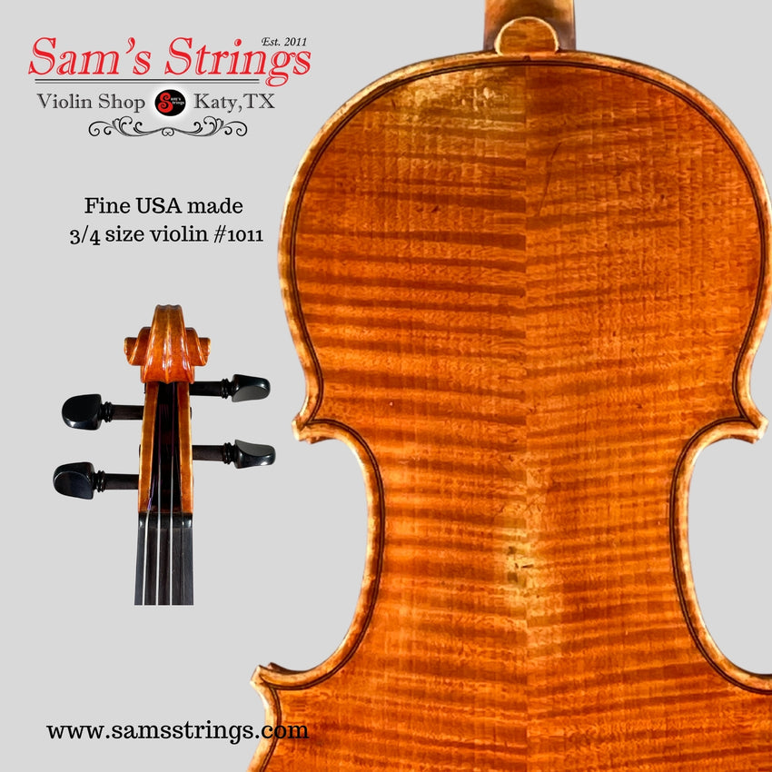 Fine American-made 3/4 size Violin #1011