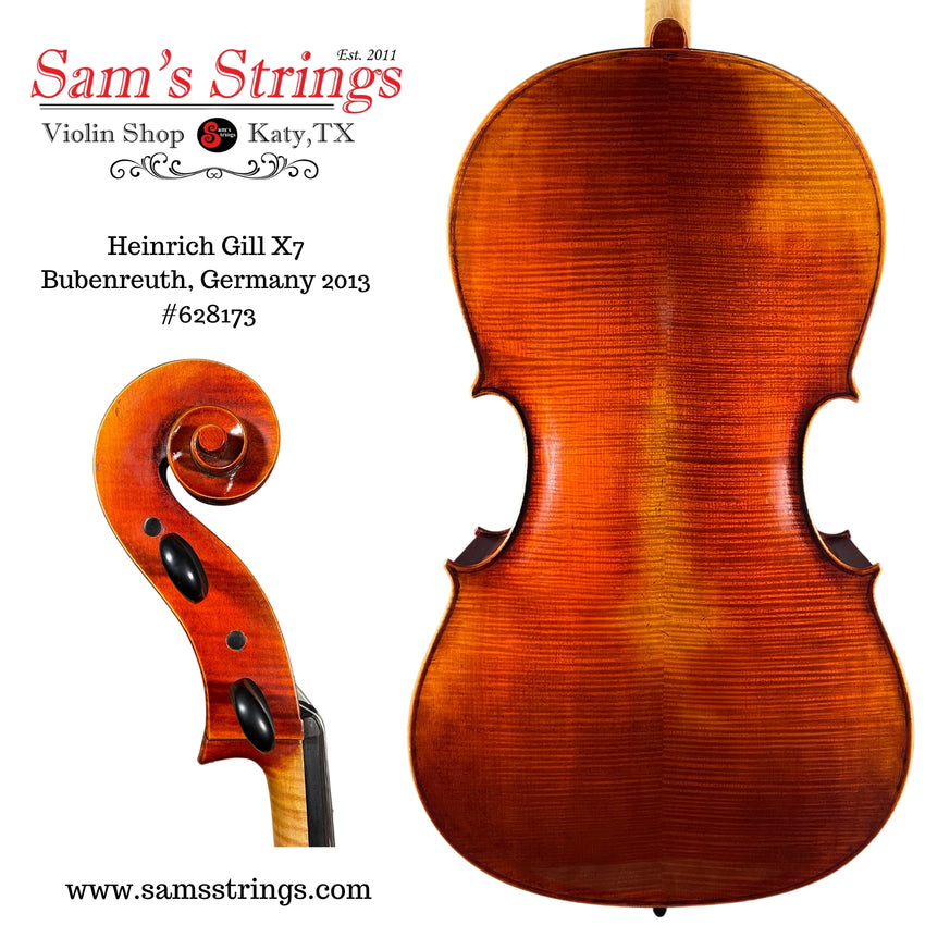 Heinrich Gill X7 Cello - Ruggieri Pattern