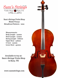 Vlc250 7/8th size cello #4211-1