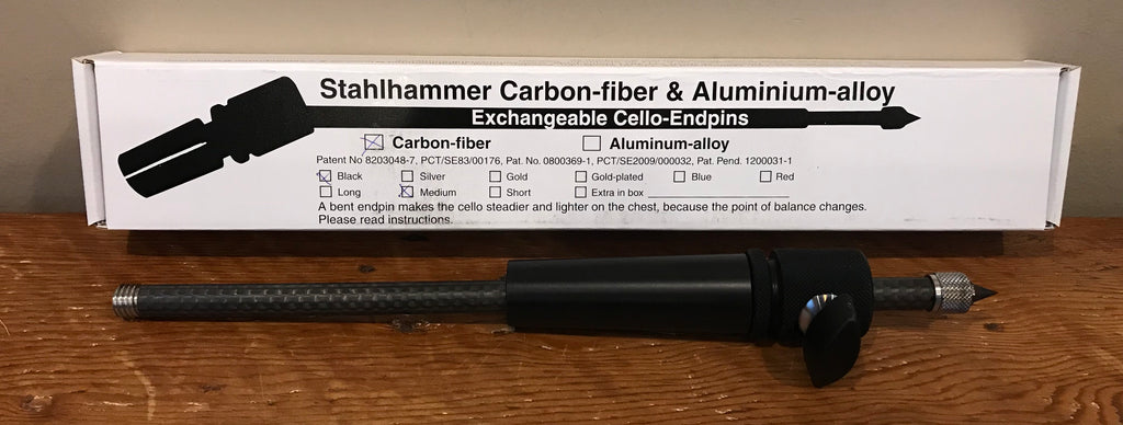 New Exchangable Stahlhammer Carbon Fiber  Cello Endpin End Pin Long