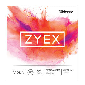 Zyex Violin Strings (4/4 Size Set with Silver D)