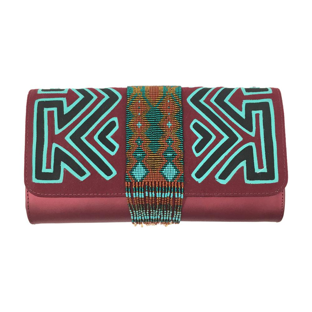 Pachanabba Burgundy Clutch