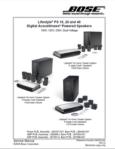 BOSE Lifestyle PS18 Digital Powered Speakers Service Manual