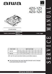 AIWA CD Mechanism 4ZG-1Z3-1Z4 Service Manual