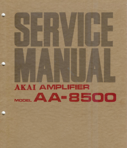 AKAI Amplifier AA-8500 Service Manual