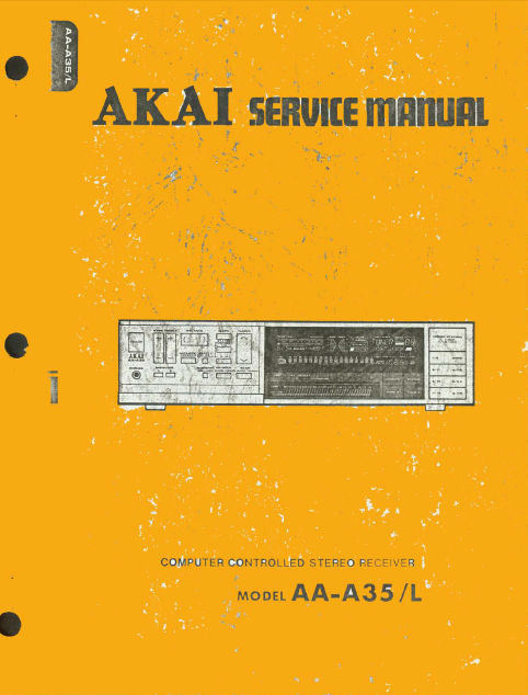 AKAI Computer Controlled Stereo Receiver Model AA-A35-L Service Manual