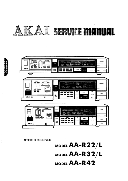 AKAI Stereo receiver Model AA-R22L Service Manual