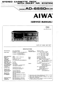AIWA AD-6550 EE,UK Service Manual