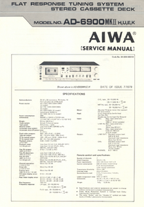 AIWA AD-6900MKII Stereo Cassette Deck with Dolby NR Service Manual