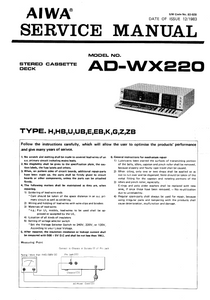 AIWA AD-WX220 Service Manual