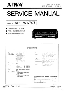 AIWA AD-WX707 Service Manual