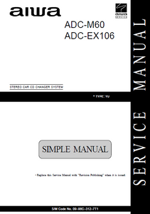 AIWA ADC-M60 Stereo Car CD Changer System Service Manual
