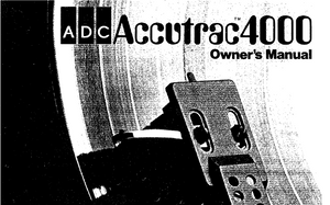 ADC Accutrac 4000 Owners Manual