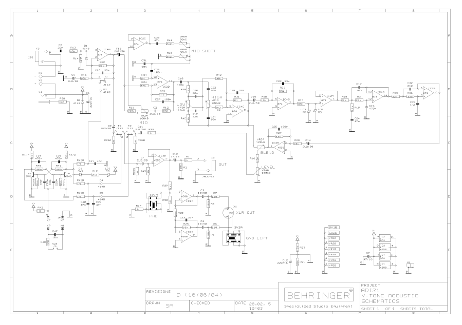 on adi 21 schematic diagrams behringer