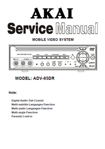 AKAI Model ADV-85DR Mobile Video System Service Manual