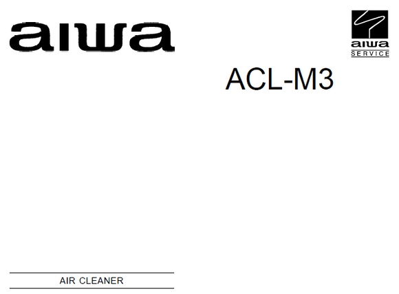 AIWA ACL-M3 Air Cleaner Schematics