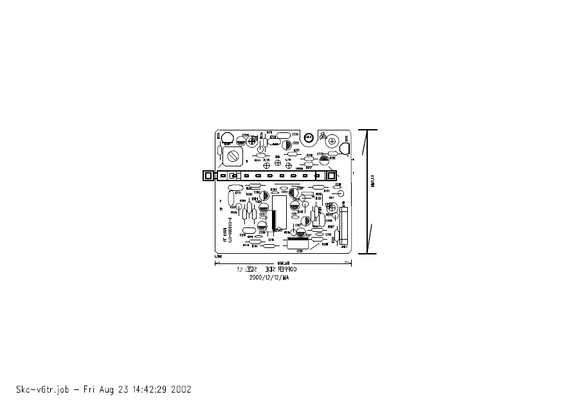 AKAI AJ-365 Component position diagrams 3 Schematic