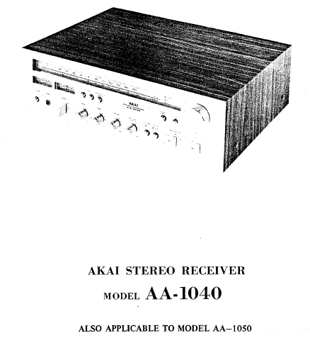 AKAI AA-1040 Parts List Service Manual