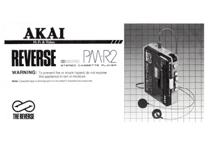 AKAI PM-R2 Stereo Cassette Player Owner's Manual