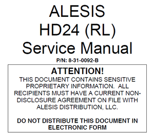 ALESIS HD24 RL Service Manual