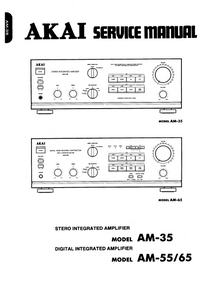 AKAI Model AM 35 and AM 55-65 Service Manual