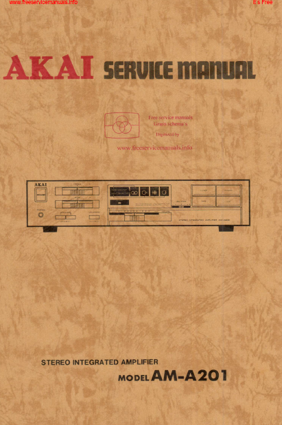 AKAI AM-A201 Stereo Integ Amp Service Manual