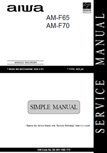 AIWA AM-F65-70 Minidisc Recorder Simple Manual