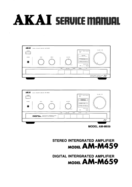 AKAI AM M459-M659 Stereo Integrated Amplifier Service Manual