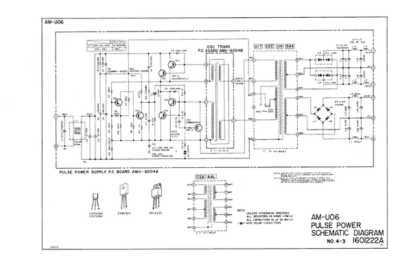 AKAI AM-U06 Pulse Power Schematics