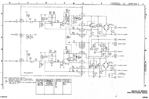 AMPEX MM1200 Motor Drive Amplifier Assembly Schematics