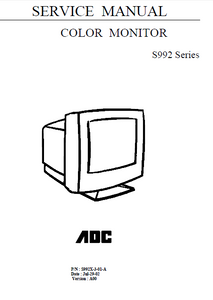 AMC AOC-S992 Series Color Monitor Service Manual
