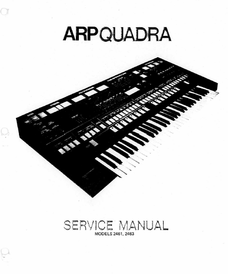 ARP Quadra-2460 Instruments Service Manual