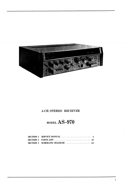 AKAI AS-970  4-Channel Stereo Receiver Service Manual