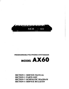 AKAI AX-60 Programmable Polyphonic Synthesizer Service Manual