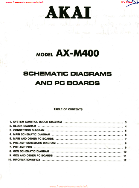 AKAI AX-M400  PC Board Schematics
