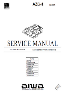 AIWA AZG-1 Basic CD Mechanism Type ZD8RD Service Manual