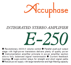 Accuphase E-250 Operations Manual