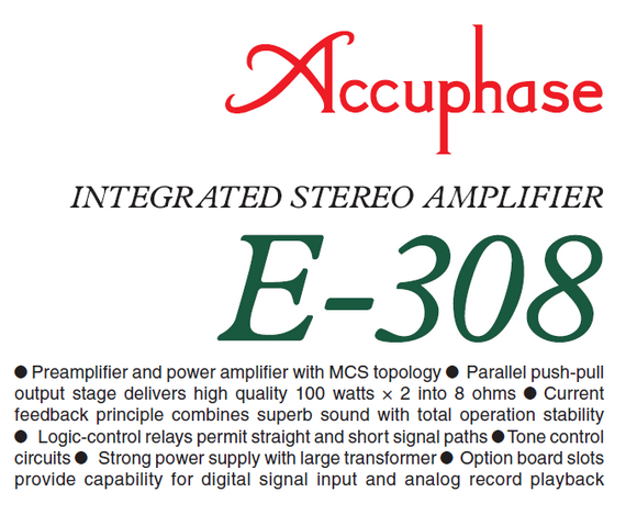 Accuphase E-308 Operations Manual