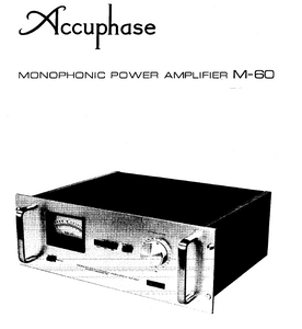 Accuphase M-60 Service Manual