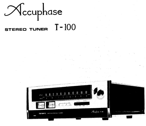 Accuphase T-100 Service Manual