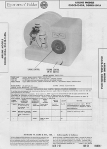 AIRLINE 05GCB-1540A Photofact Instruction Manual