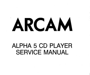 ARCAM ALPHA 5CD Player Service Manual