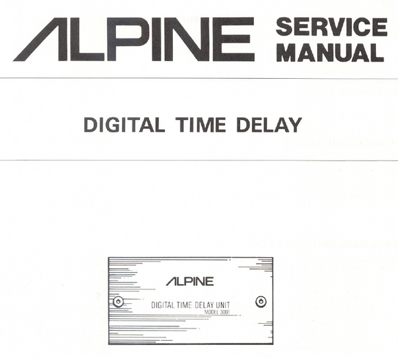 Alpine Service Manuals