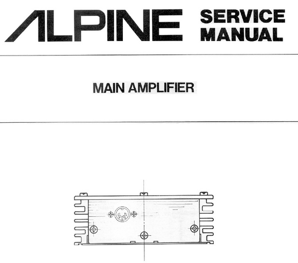 ALPINE 3006 Main Amplifier Service Manual