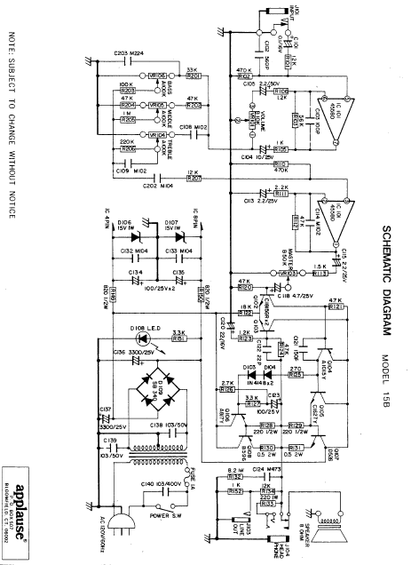 Applause 15B Schematic
