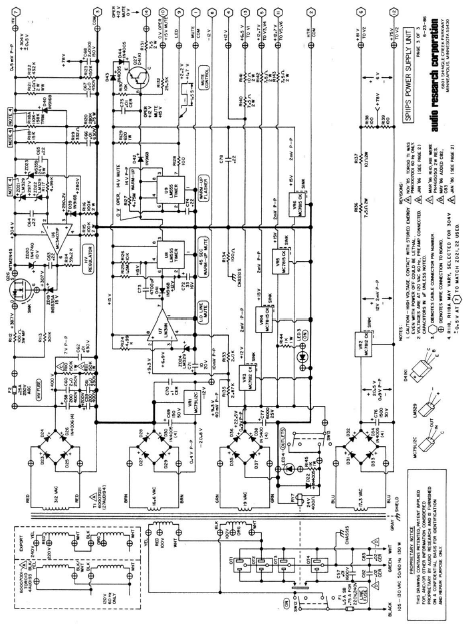 AUDIO RESEARCH SP11 Power Supply Schematics